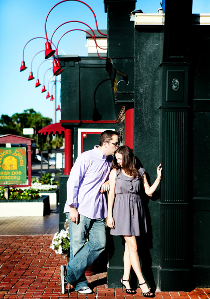 Couple outside Fiddlers Green
